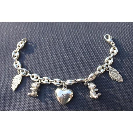 Bracelet Corse oursons coeur diamant