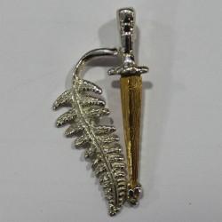 Fougère bronze plaqué or 24 ct