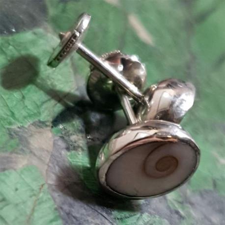 Boucles d'oreilles serties Oeil de Sainte Lucie