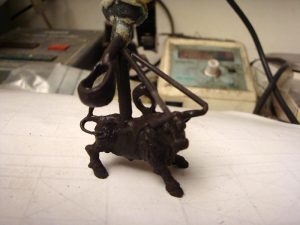 Création de taureau camarguais en bijou