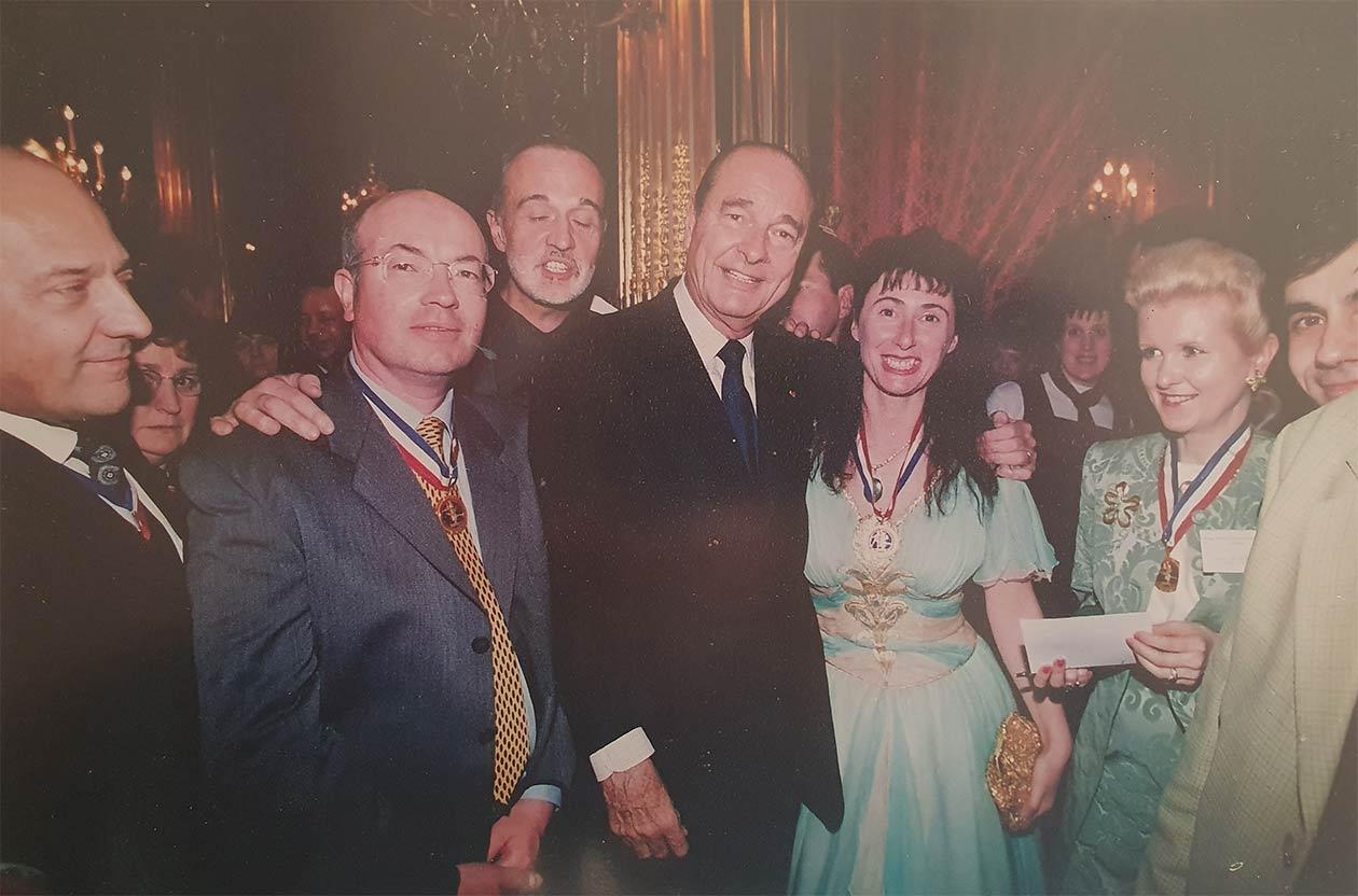 Sylvie Orsini à l'Élysée avec Jacques Chirac